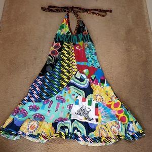 Desigual halter dress. Colorful and unique.